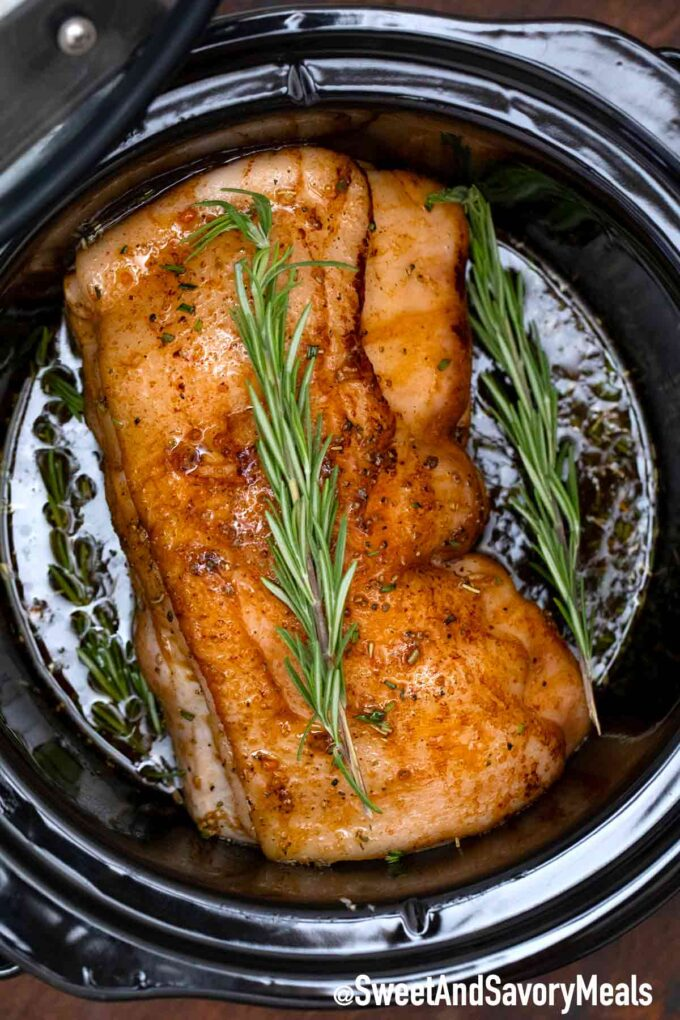 cooking crockpot balsamic pork loin
