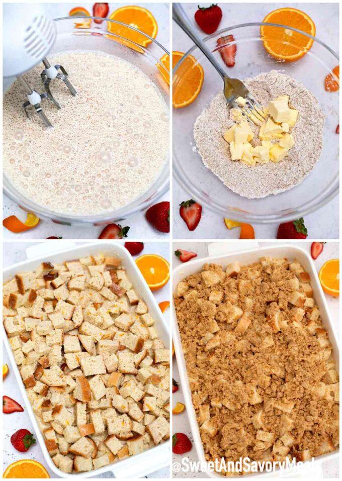 Steps how to make French toast bake casserole