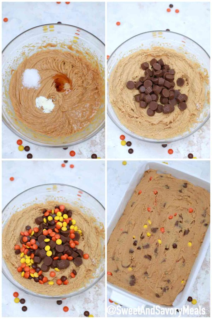 steps how to make peanut butter blondies