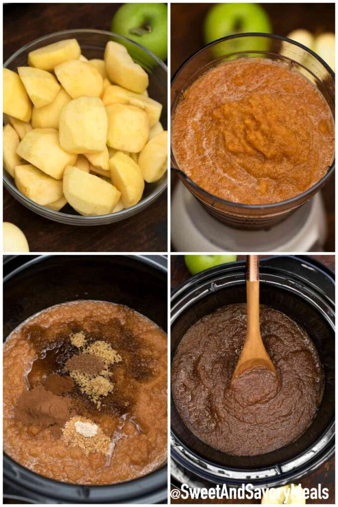 steps how to make slow cooker apple butter