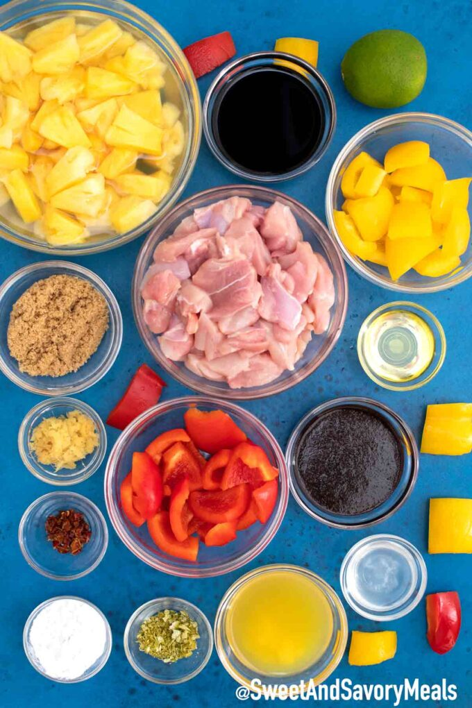 Instant Pot Hawaiian Chicken ingredients