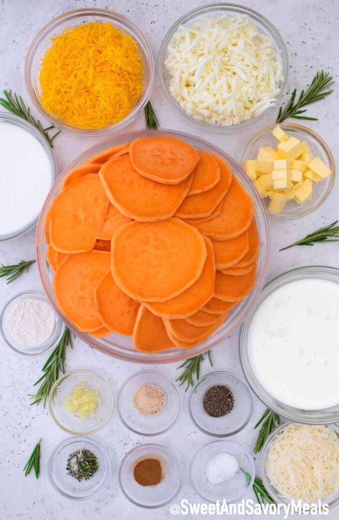Scalloped sweet potatoes ingredients