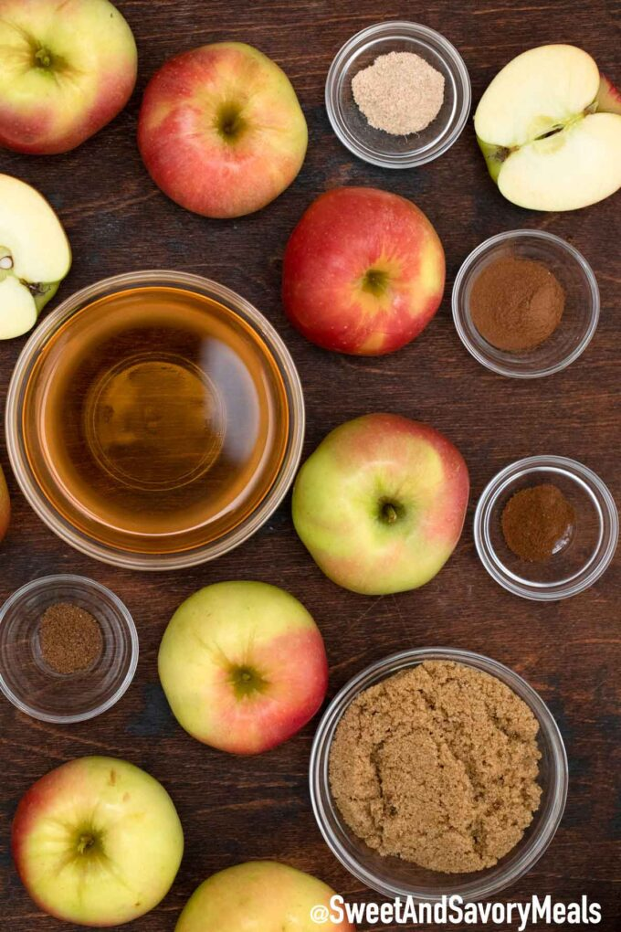 slow cooker apple butter ingredients