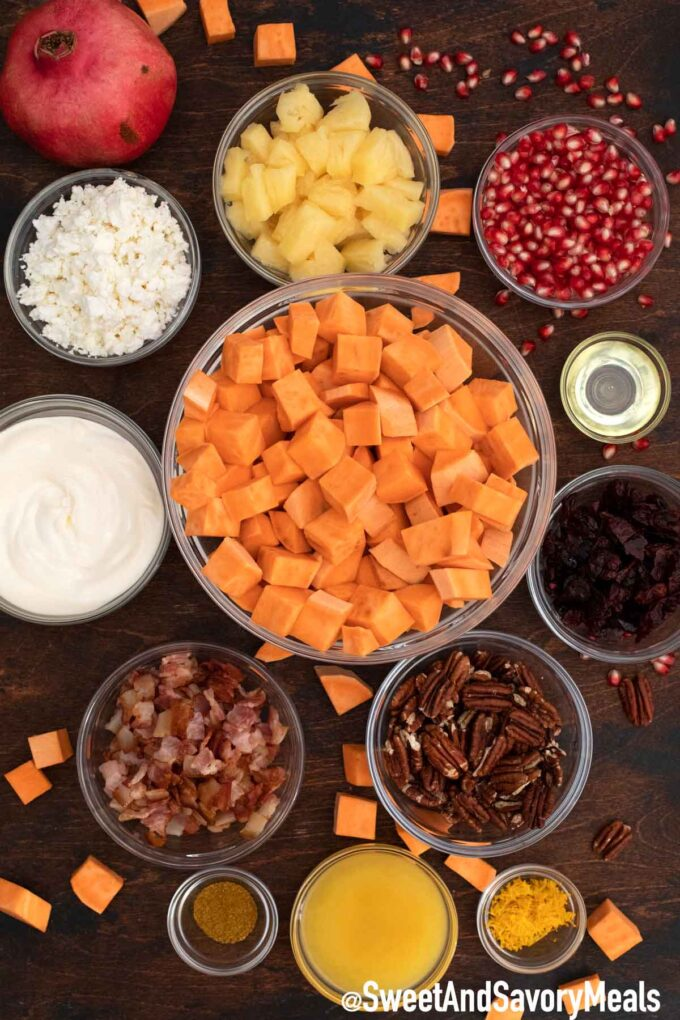 Sweet potato salad ingredients