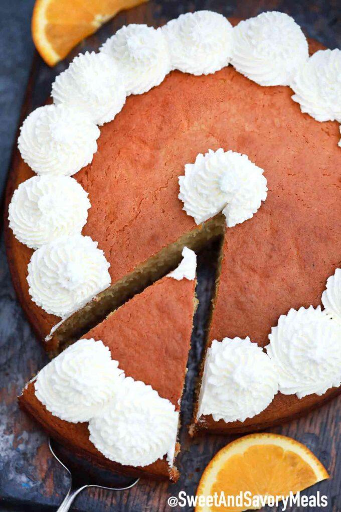Yogurt orange cake.