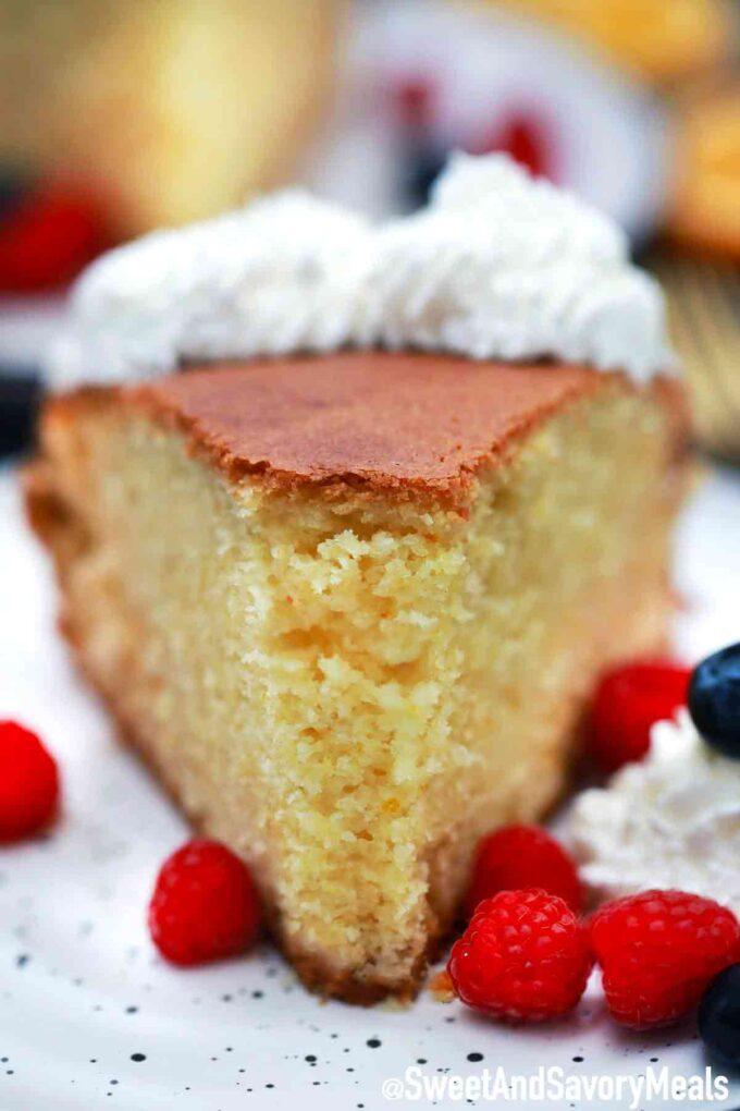 Yogurt Orange cake slice.