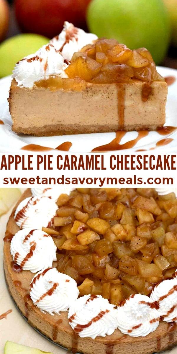 easy apple pie caramel cheesecake pin