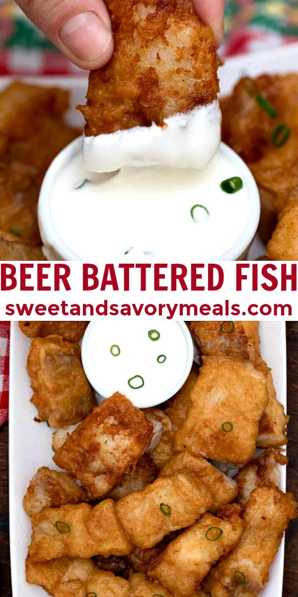 easy beer battered fish pin