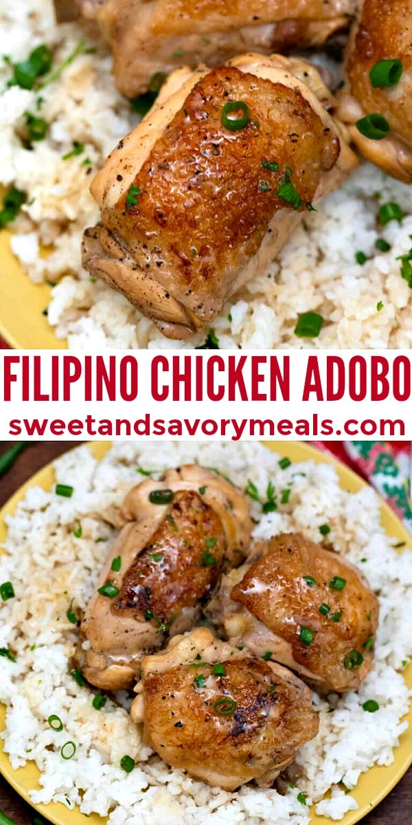 easy filipino chicken adobo pin