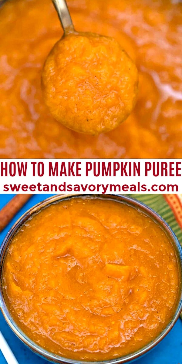 how to make easy pumpkin puree pin