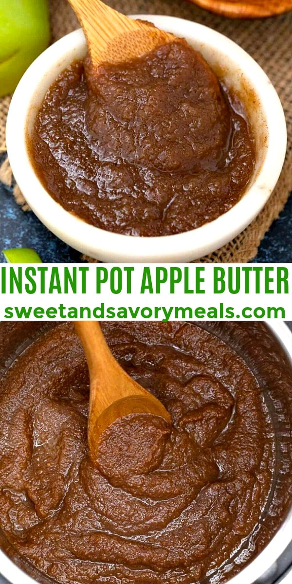 easy instant pot apple butter pin