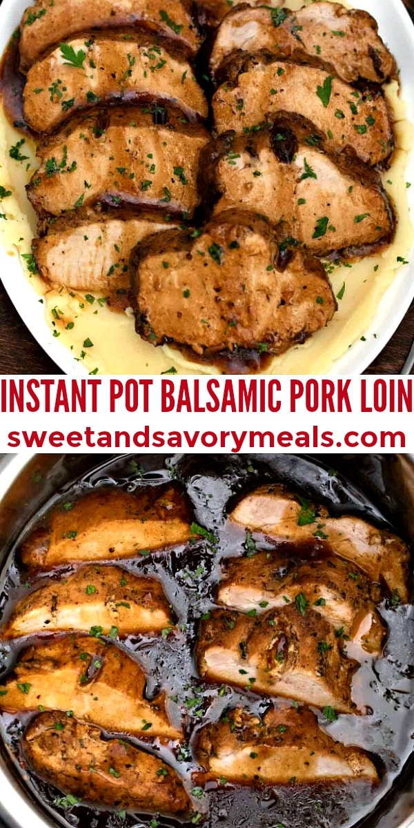 easy instant pot balsamic pork loin
