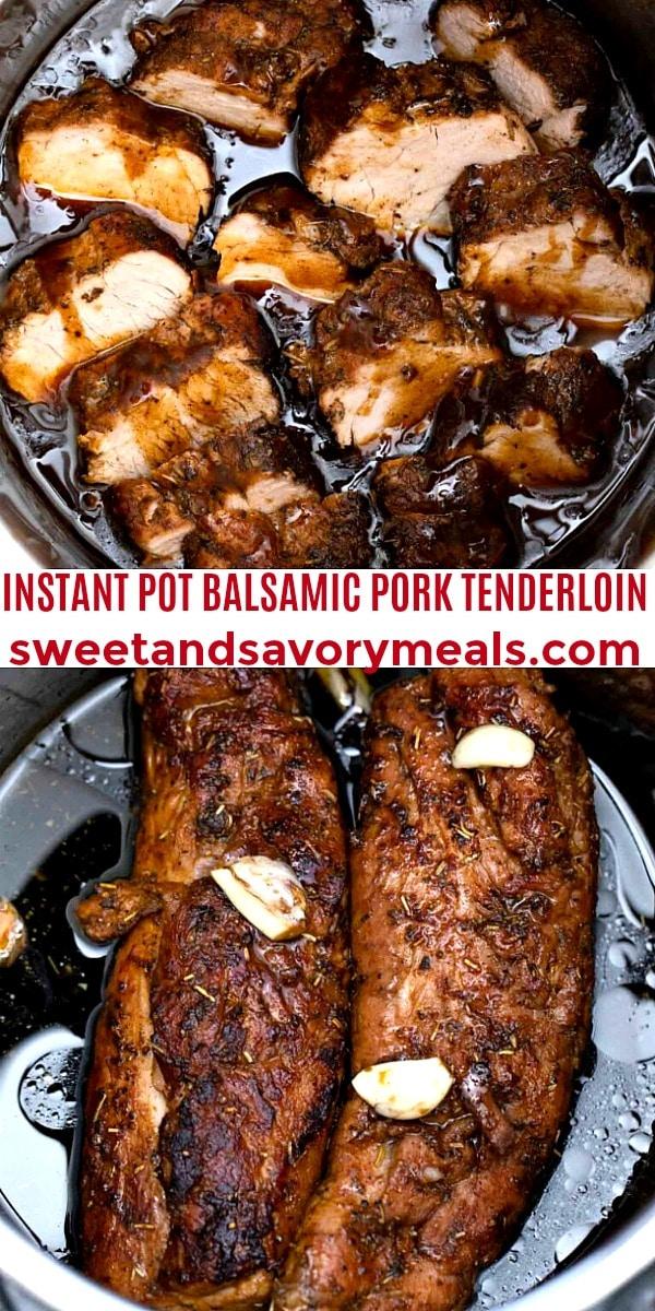 easy instant pot balsamic pork tenderloin pin