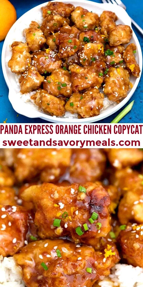 easy panda express orange chicken copycat pin