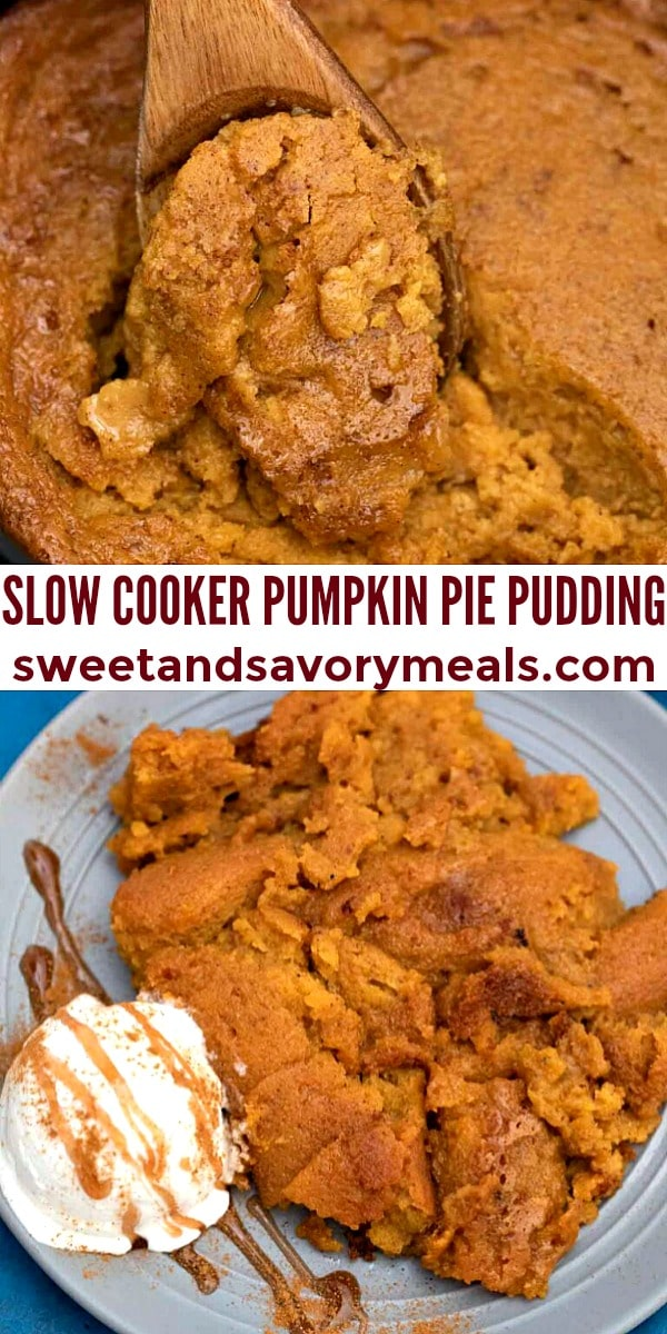 easy slow cooker pumpkin pie pudding pin