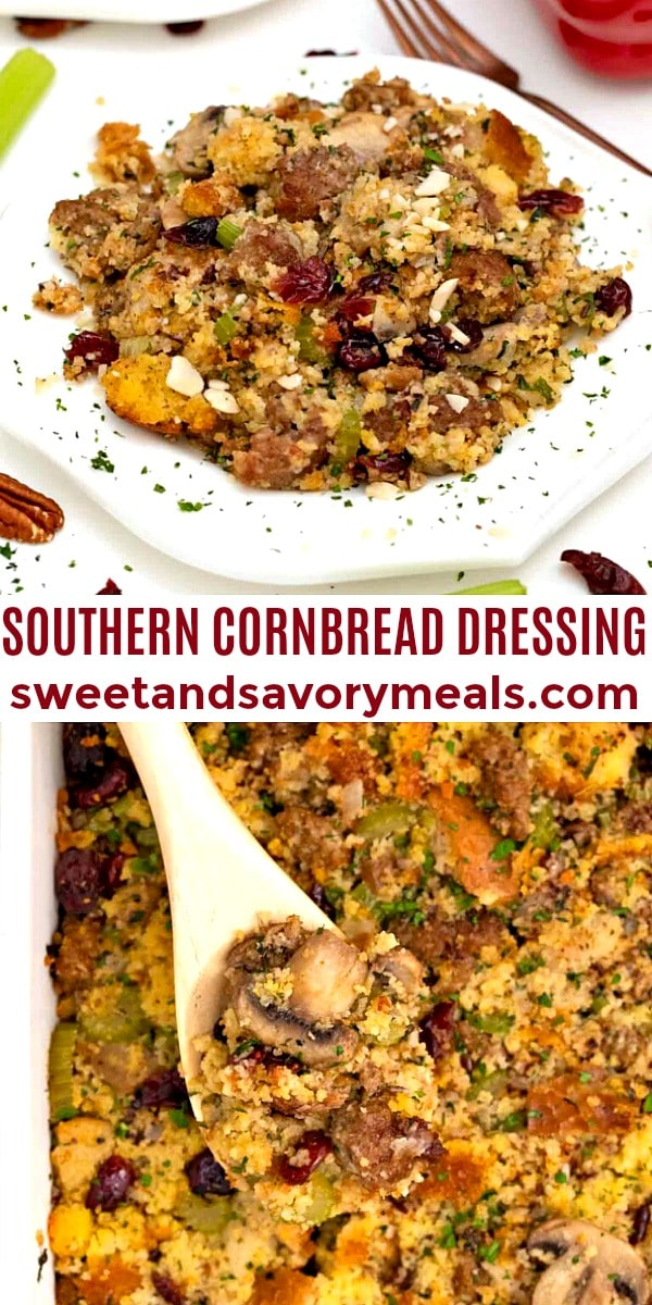 Easy Southern Cornbread Dressing pin
