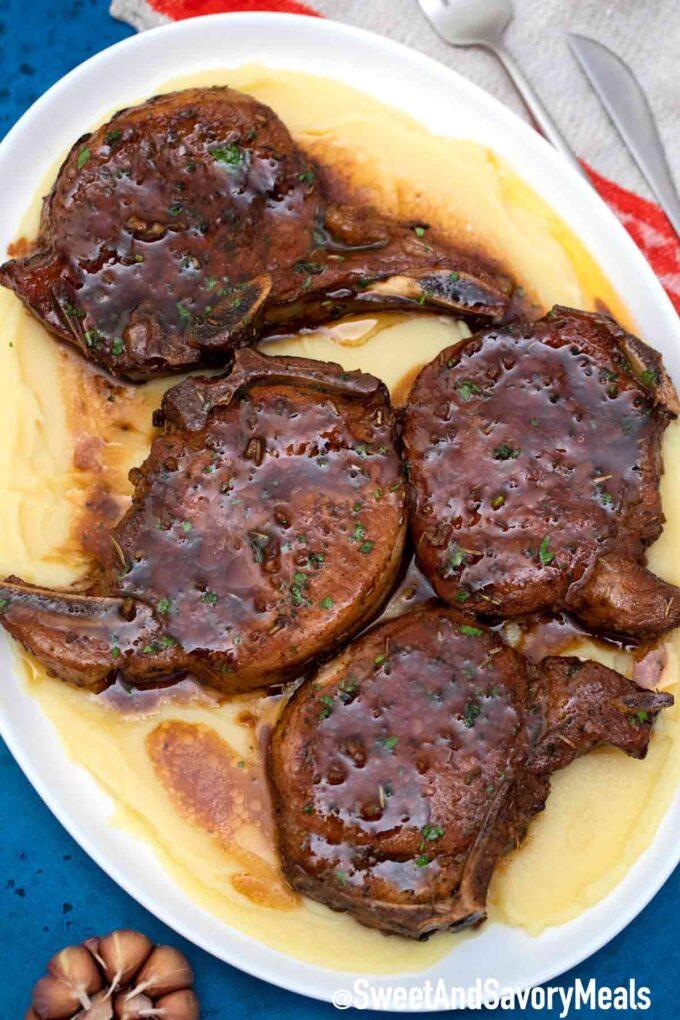 Brown sugar baked pork chops