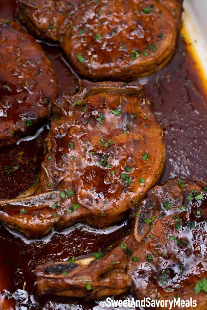 Brown sugar baked pork chops recipe