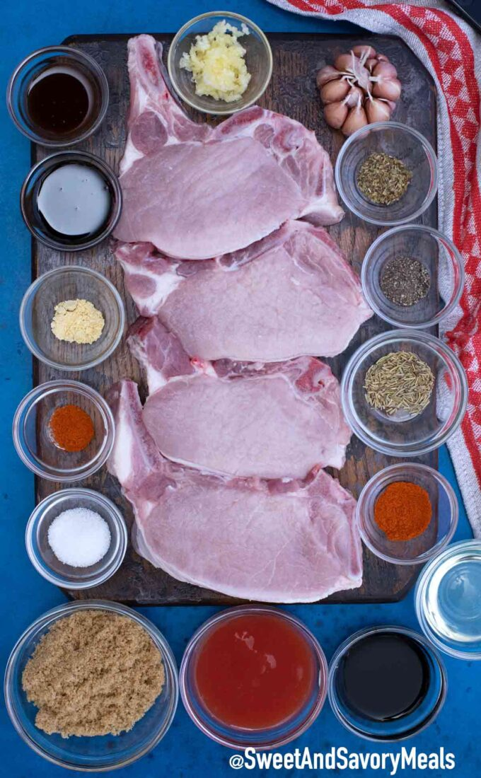 Brown sugar baked pork chops ingredients for the recipe