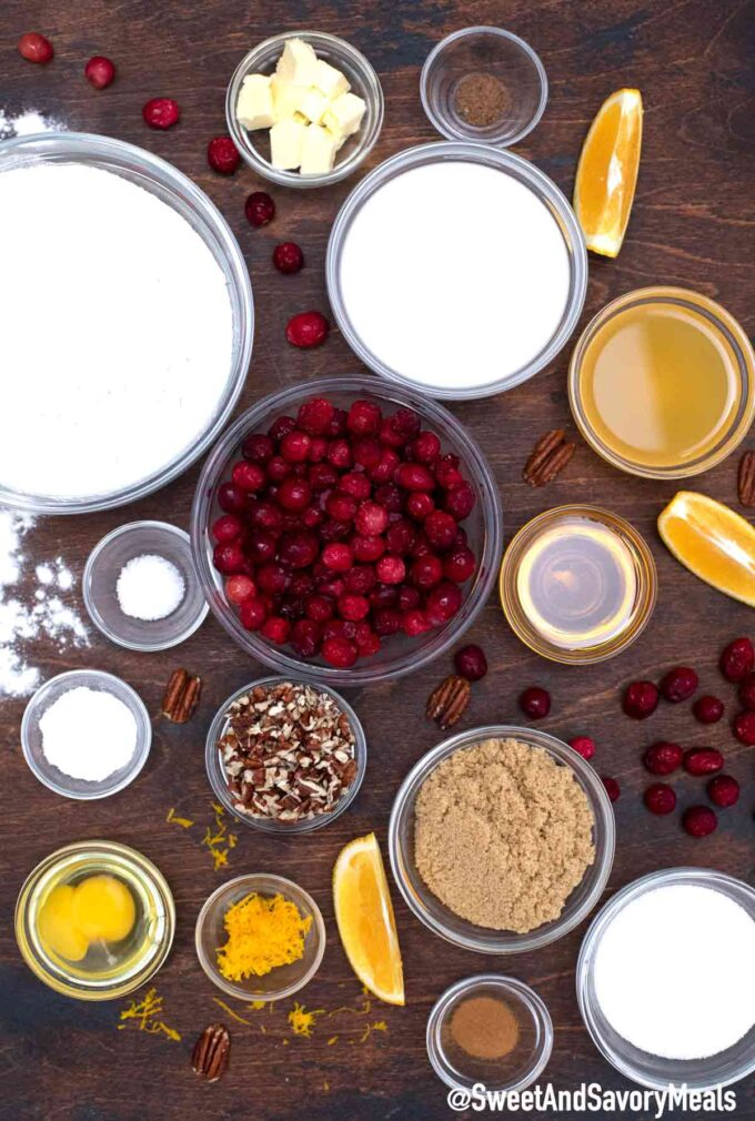 cranberry bread ingredients