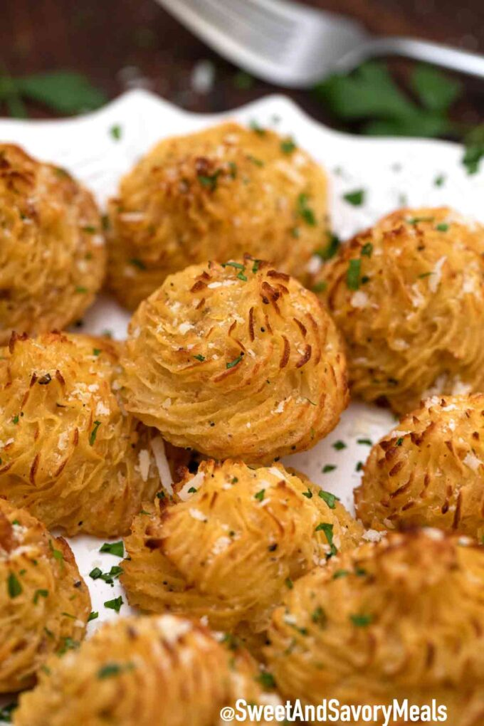 duchess potatoes on a plate