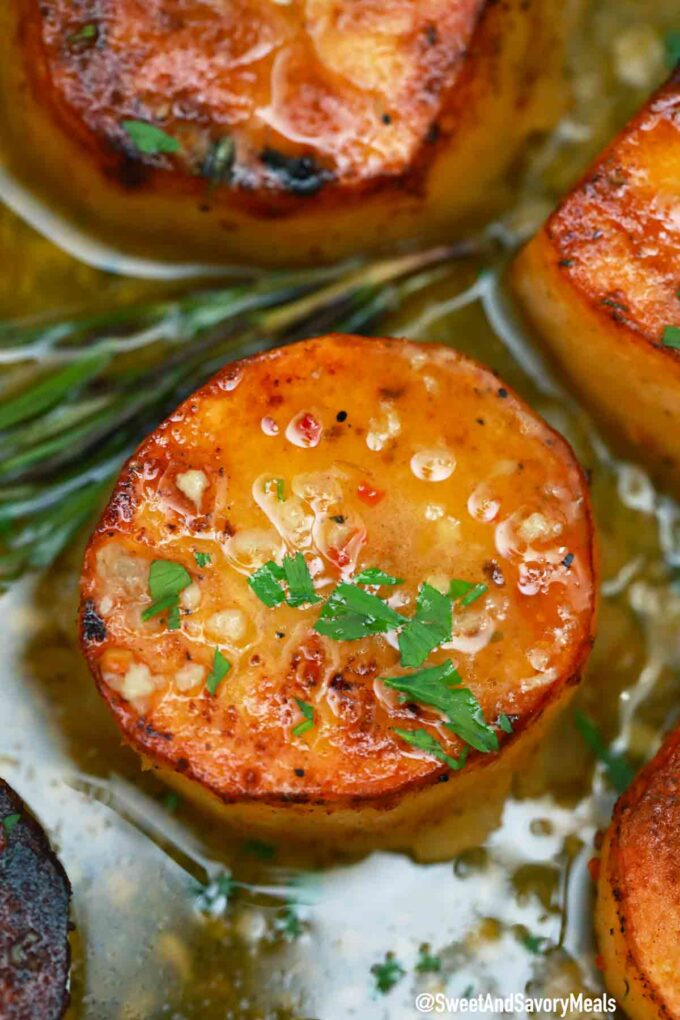 fondant potatoes with rosemary