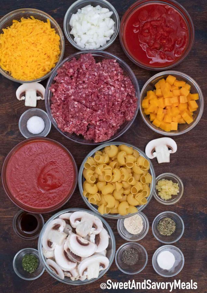 Hamburger casserole ingredients
