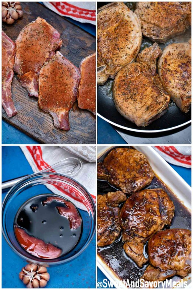 Steps how to make brown sugar baked pork chops