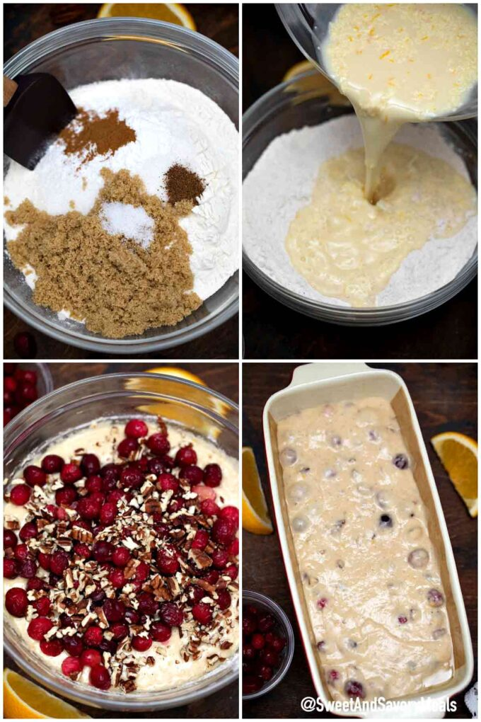 steps how to make cranberry bread