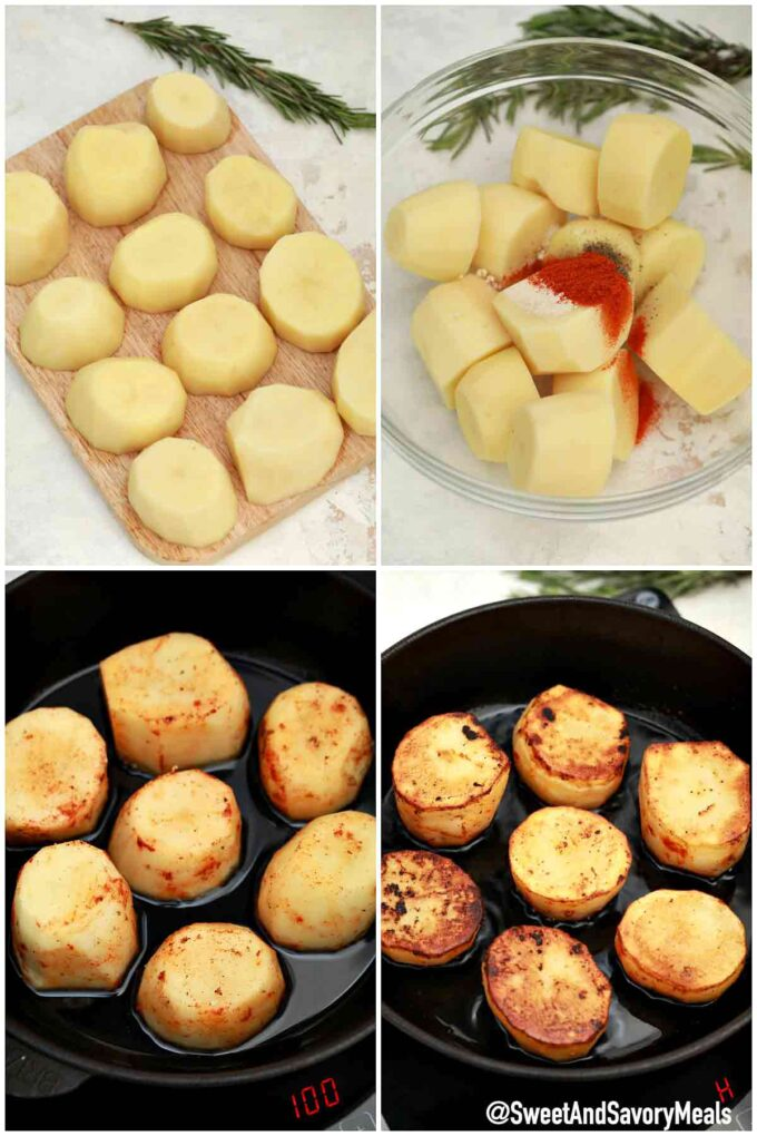 steps how to make fondant potatoes