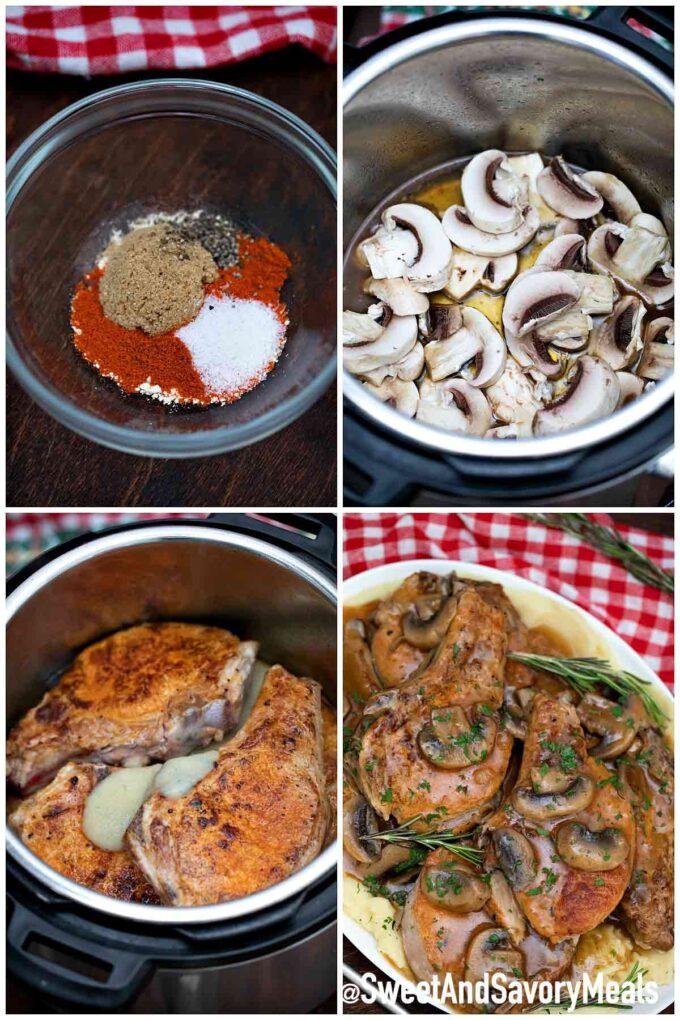 Steps how to make instant pot pork chops