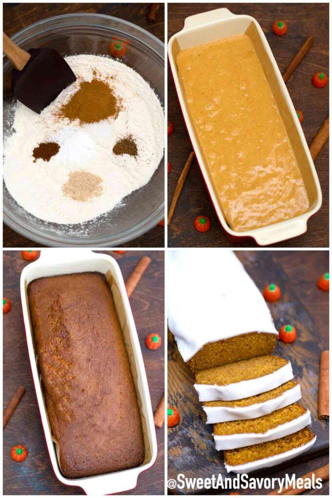 Steps how to make pumpkin bread - recipe