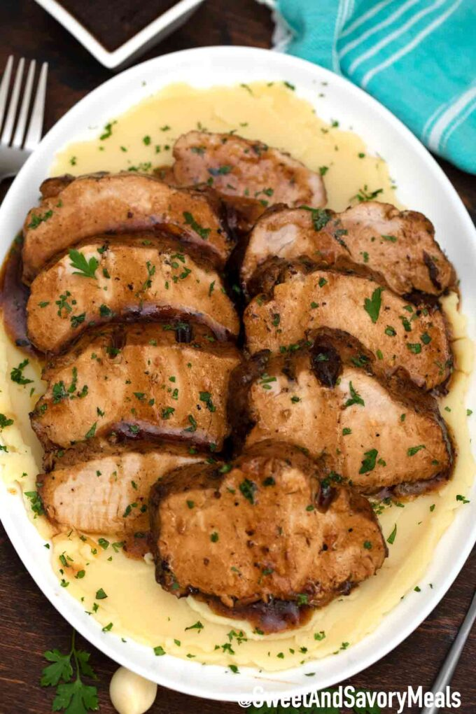 garlic balsamic pork loin