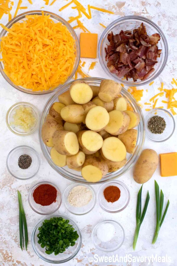 slow cooker loaded potatoes ingredients