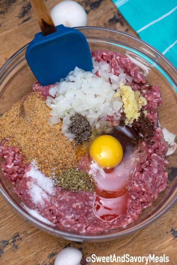 hamburger steak patty ingredients
