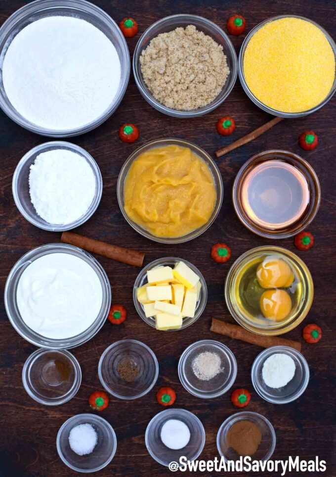 pumpkin cornbread ingredients