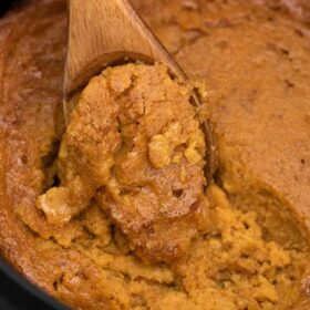 slow cooker pumpkin pie pudding