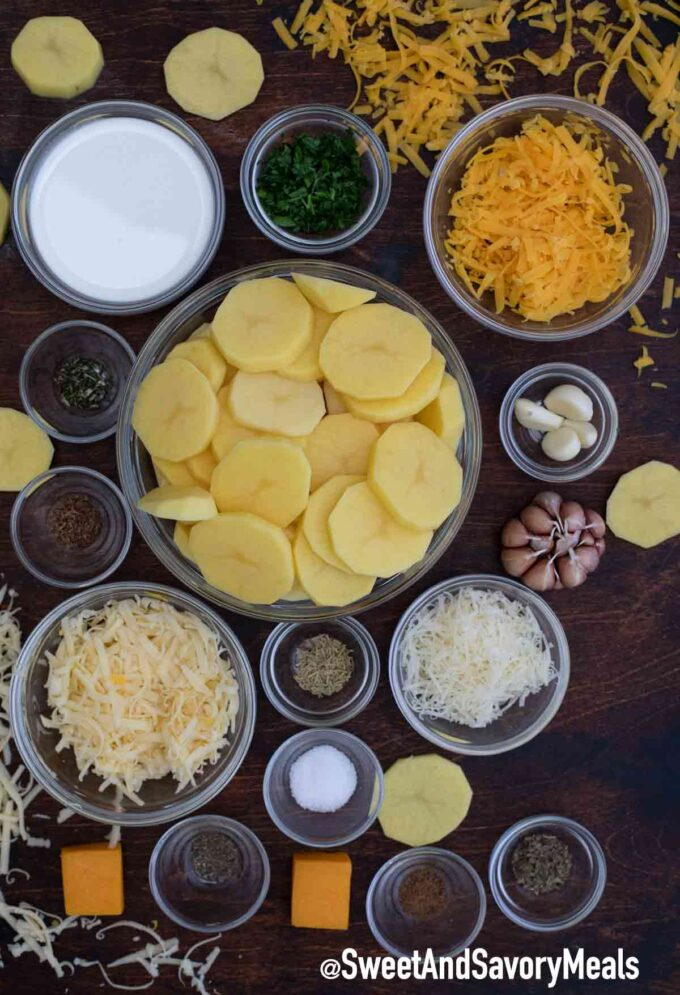 slow cooker scalloped potatoes ingredients