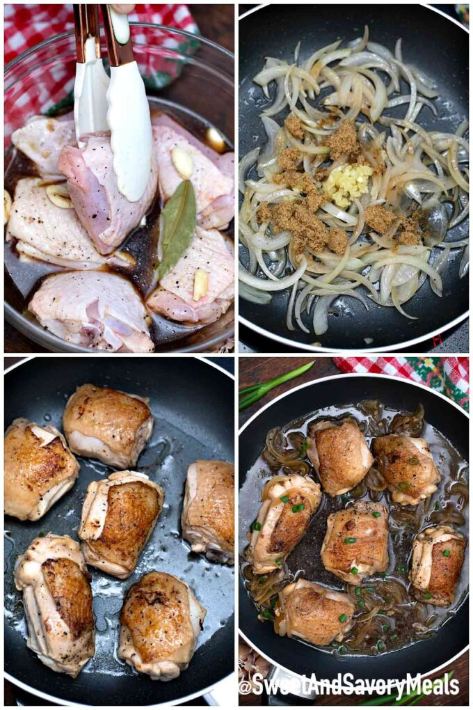 steps how to make filipino chicken adobo