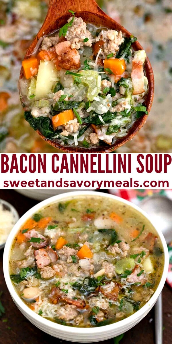 easy bacon cannellini soup pin