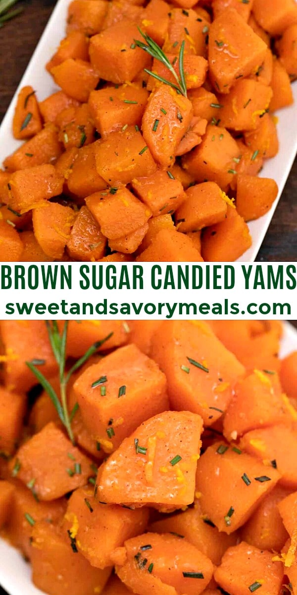 easy brown sugar candied yams pin