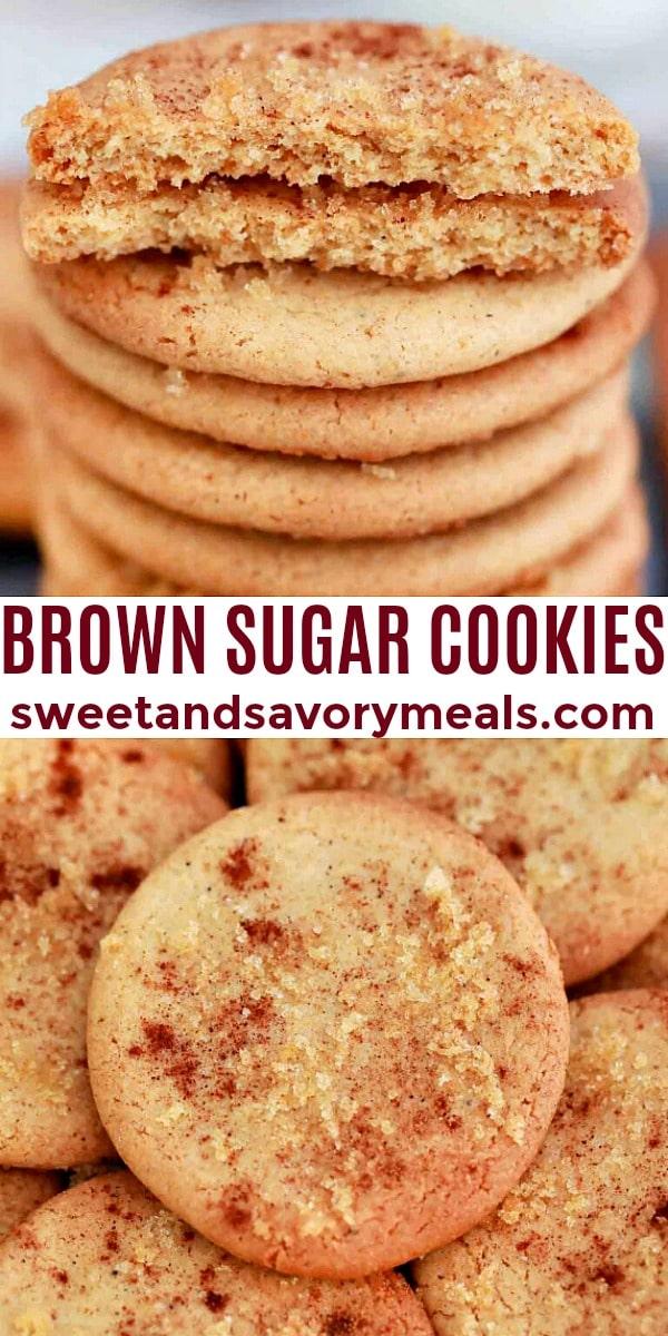 easy brown sugar cookies pin