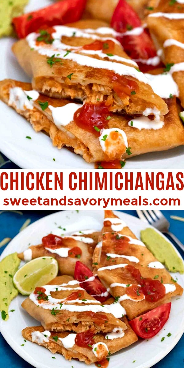 easy chicken chimichangas pin