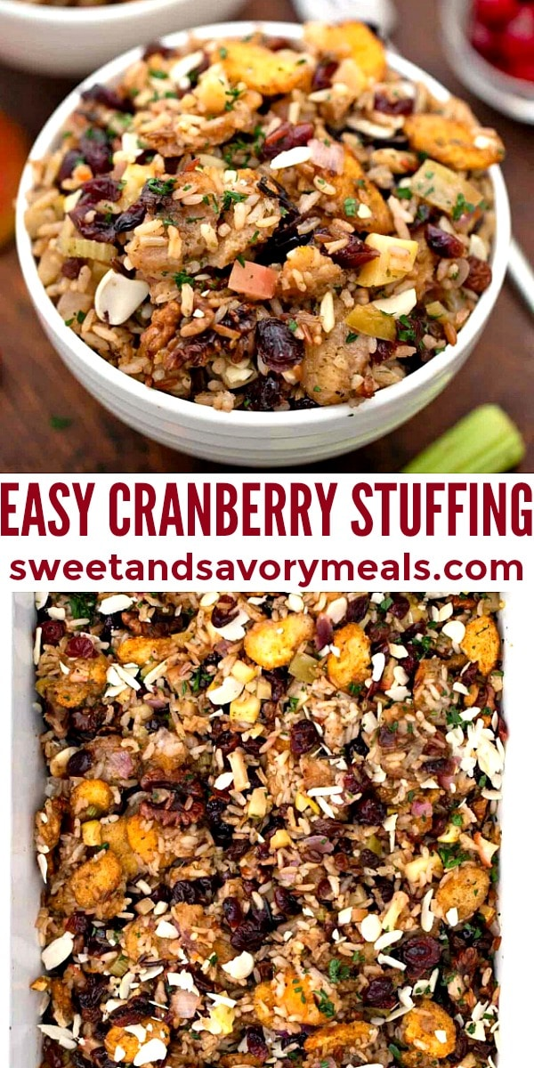 easy homemade cranberry stuffing pin