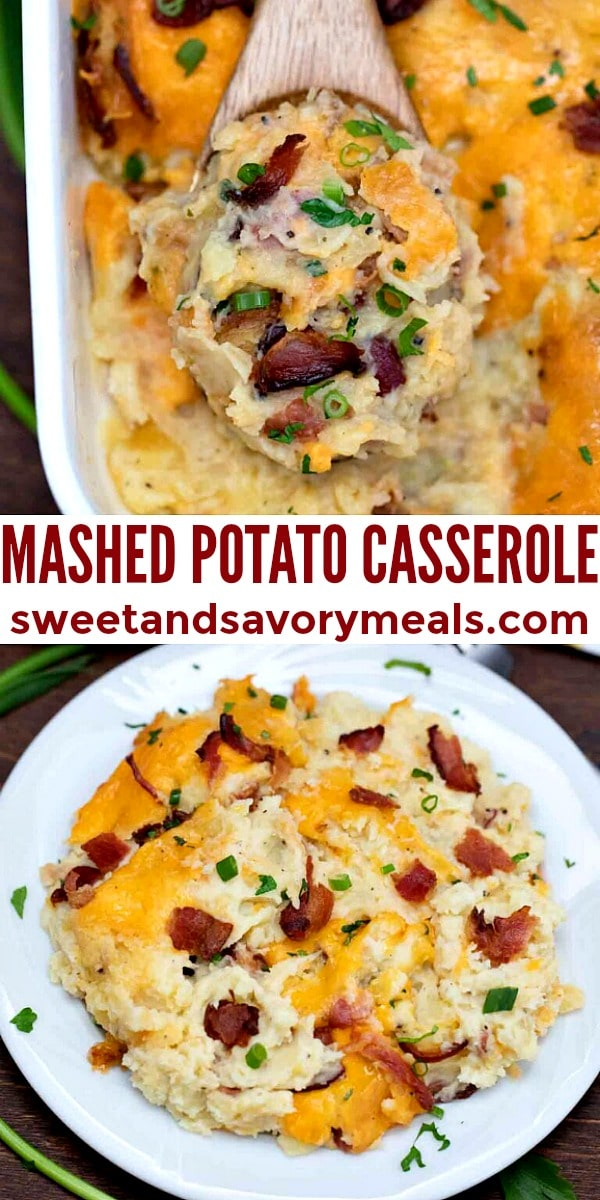 easy mashed potato casserole pin