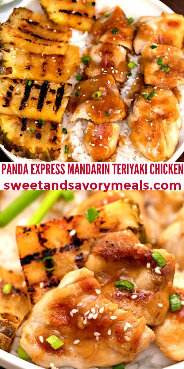 easy panda express mandarin teriyaki chicken pin