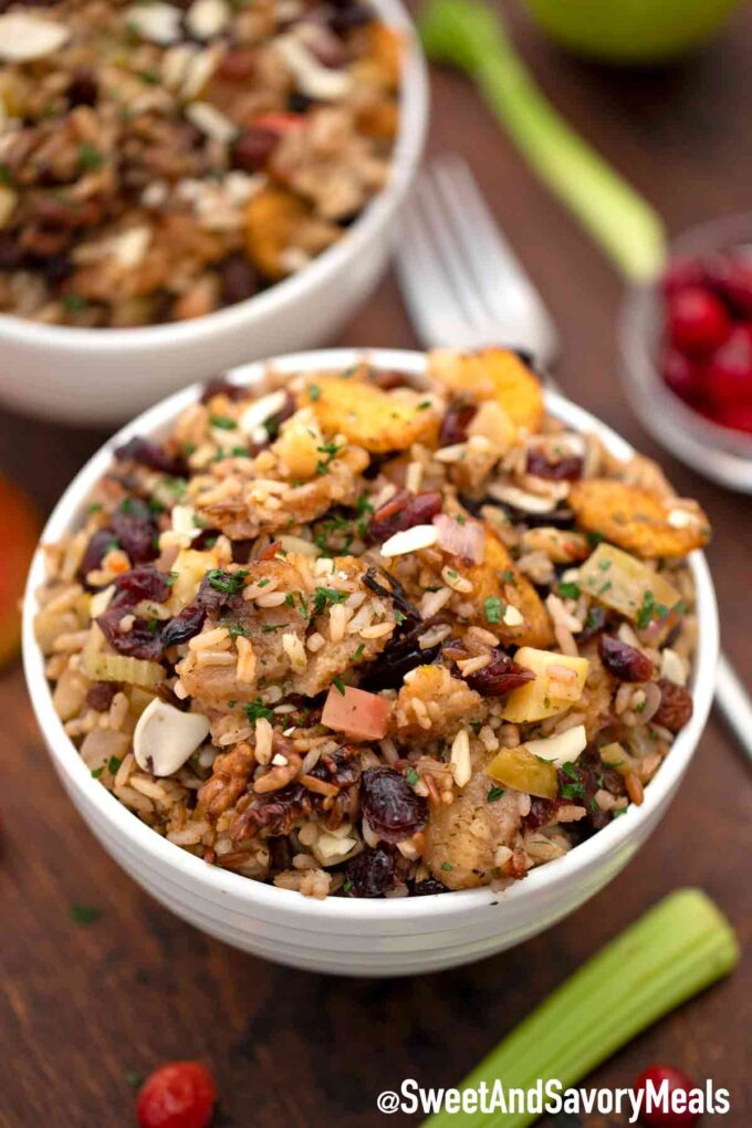 cranberry stuffing with rice