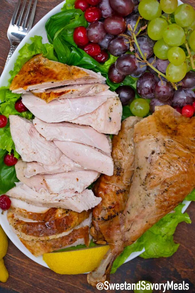 sliced herb roasted turkey