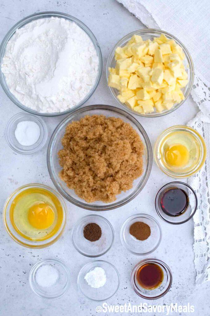 brown sugar cookies ingredients