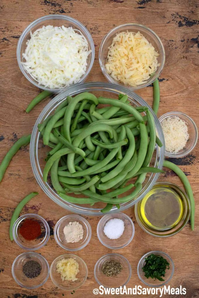 cheesy baked green beans ingredients